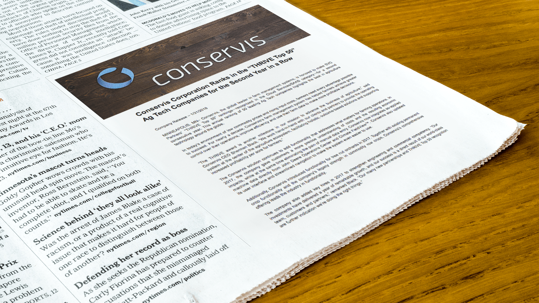 Conservis News and Blog Page