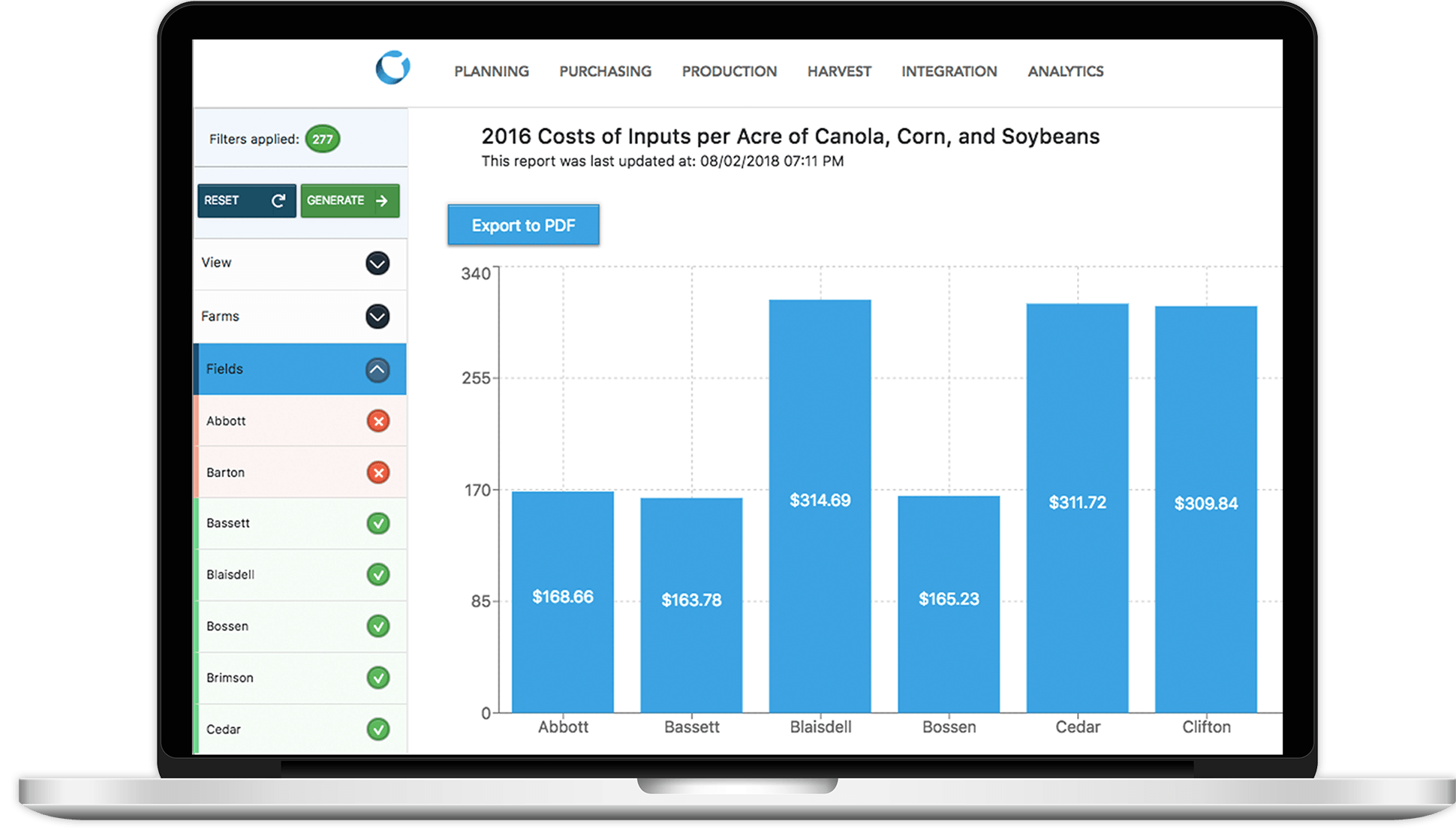 Conservis Farm Data Management App