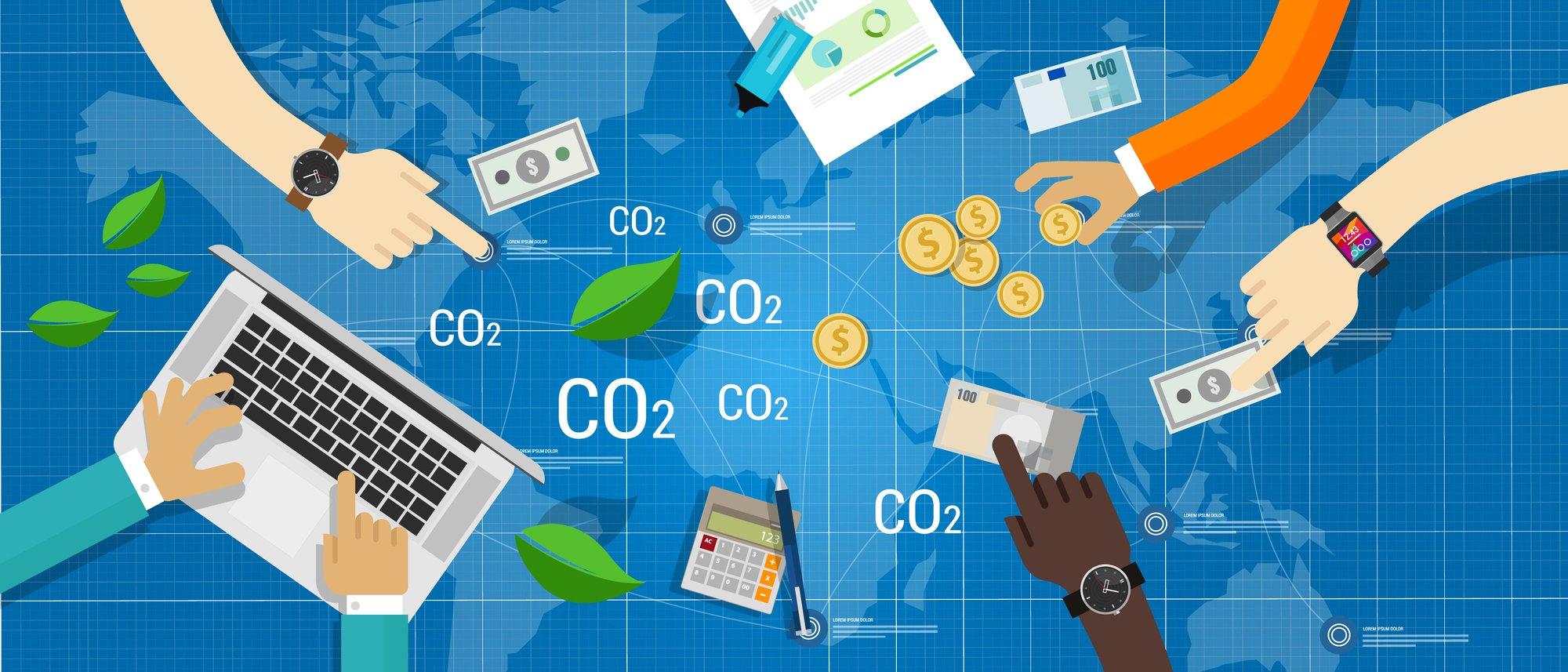 carbon emission co2 trading business bargain