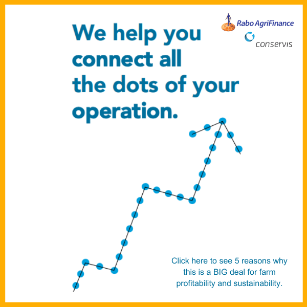 We help you connect all the dots of your operation. Rabo AgriFinance & Conservis