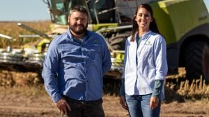 Mark Anderson and McKenna Pieper of Schiff Farms