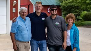 Three generations of Bates Next Generation Family Farm